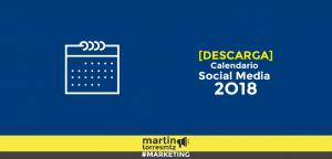 Calendario Social Media 2018
